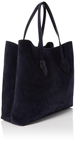 Coccinelle - Celene Suede, Shoppers y bolsos de hombro Mujer, Blue (Bleu/bleu), 12x33.5x37 cm (W x H L)