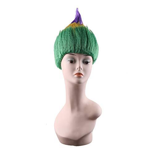 Mardi Gras Troll Wig Party Halloween Wig Cosplay Synthetic Wig Hair ()