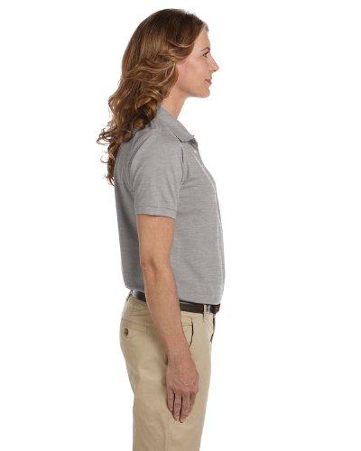 Ladies' Easy Blend Polo, Grey Heather, XL