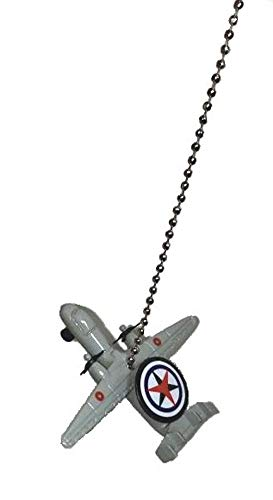 US Military Airplane Fighter Jet air Plane Ceiling Fan Pull Light Chain (Gray Boeing E-2 Sentry AWACS Recon spy Plane) ()