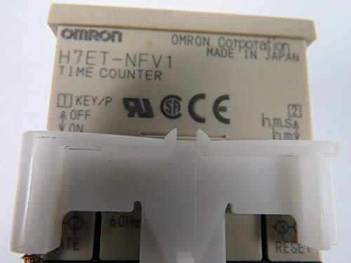 Omron H7ET-NFV1 Self Powered Time Counter 7 Digit Multi Voltage Input