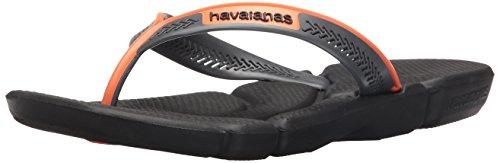 Havaianas Mens Sandalo Infradito Nero / Arancio Neon