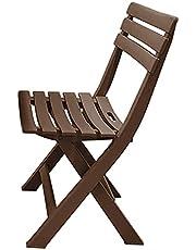 كرسي بلاستيك من الهلال والنجمة الذهبية - بني