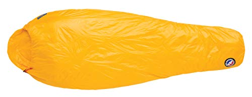 - Big Agnes V Notch UL 40 (Primaloft) Mummy Sleeping Bag, Long, Left Zip, Gold