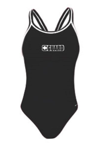 Dolfin Poly Guard DBX Back One Piece - Female Swimsuit for Lifeguards - Black 28