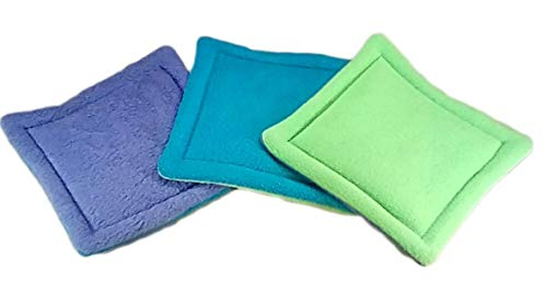 Reusable Potty Pads - Set of 3 - Purple Blue Green - 3 Sizes - Machine Wash