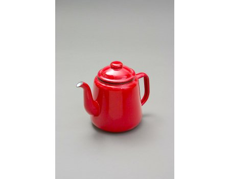 FALCON RED ENAMEL TEA POT WITH HANDLE & LID TEAPOT - CAMPING by Falcon