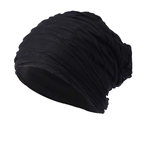 Men Women Knit Caps, Sttech1 Baggy Warm Crochet Winter Wool Knit Ski Beanie Skull Slouchy Caps Hat (Black)