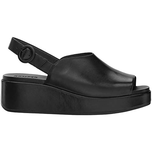 Camper Women's Misia K200592 Wedge Sandal, Black, 37 for sale  Delivered anywhere in USA