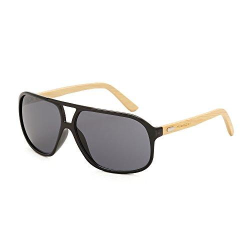 Sunny&Love Wooden Unisex Bamboo Sunglasses Double Bridge - Wholesale Sunglasses Wooden