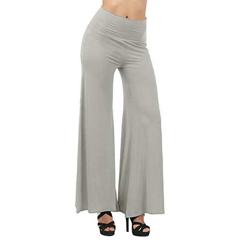Geetobby Women Wide-leg Pants High Waist Loose Bloomers Yoga Dance Full Trousers -