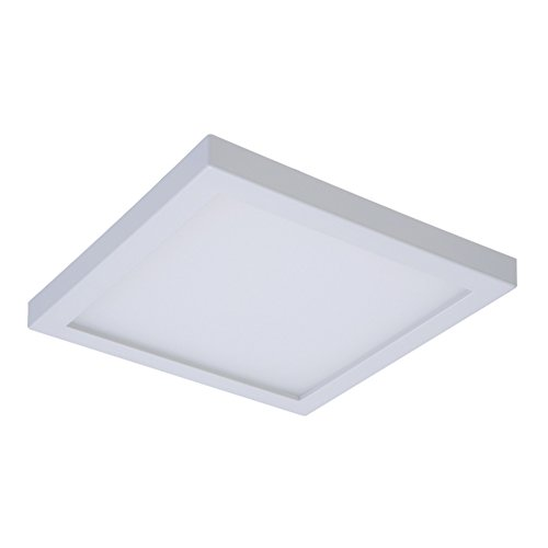 Halo SMD4S6940WH SMD 4000K Integrated Led Surface Mount/Recessed Square Trim, 4 in, White by Halo