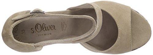 s.Oliver 28323 - Sandalias de Tobillo Mujer Marrón - Braun (PEPPER 324)