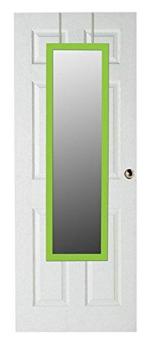 Home Basics Over The Door Full Length Rectangle Mirror (Green)