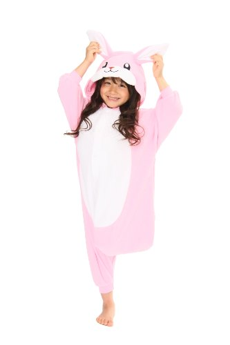 Pink Rabbit Kids Kigurumi (5-9 Years) -