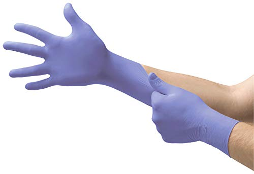 Microflex SU-690 Disposable Nitrile Gloves, Latex-Free, Powder-Free Glove for Cleaning, Mechanics, Automotive, Industrial, or Medical applications, Violet, Size Small, Box of 100 Units