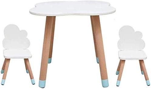 Mesas y sillas Los niños de madera Mesa + 2 sillas, mesa linda del ...