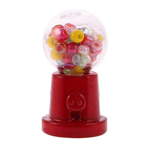 Brosco Metal Mini Gum Ball Candy Machine Vending Toy for 1:12 Dollhouse Miniature ()