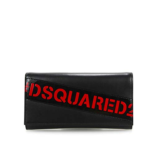 Women's Accessories Dsquared2 D2 Black Red Logo Clutch SS 2019
