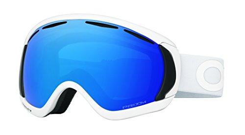 Oakley Men's Canopy Snow Goggles, Factory Pilot Whiteout, Prizm Sapphire Iridium, - Oakley Womens Goggles Snow