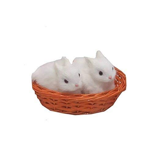 little deer Doll Accessories Bunny Pet House Bed Hair for 18 inch Girl Baby (Rabbits) (American Girl Doll Pets Bunny)