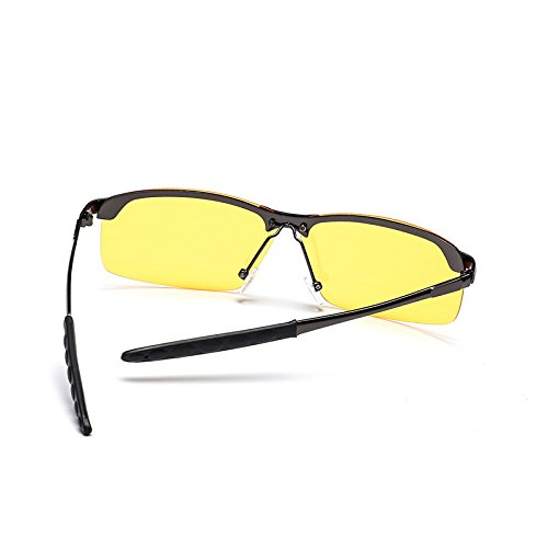 Gun de Frog Reflectantes Gray Color Mujer Hombre Box clásicas Sunglasses de Vision Mirror Night Sol Retro Gafas de Gun Gafas Black Gafas Sol Box y qnwvwT6f
