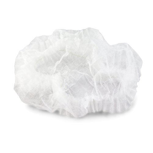 - New Star Foodservice 32222 Disposable Non Woven Chef Mop Hat, 19-Inch, White, Set of 100