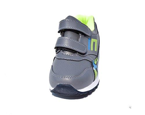 BTS - Zapatillas de Piel para niño 36 Varios Colores - Grau/ Orange