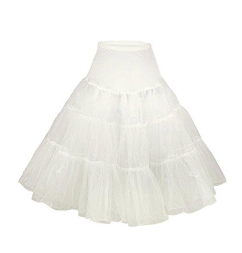 XYX enagua tutú enagua de la boda accesorios de la boda Enaguas Falda paseo Tutú 50s enagua rockabilly retro pivotar enagua de la vendimia falda neta de lujo marfil