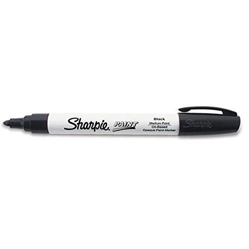 Sharpie Paint Marking Pens, Medium, Black (50 Pack)
