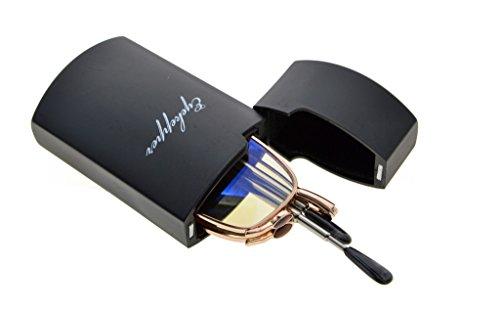 Eyekepper Computer Readers Telescopic Arms Folding Computer Eyeglasses With Flip-Top Case (Yellow Lens, - Eyeglass Arms