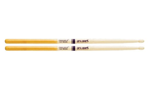 Promark TXPG747W American Hickory Pro-Grip Wood Tip, Single (Neil Peart Drumsticks)