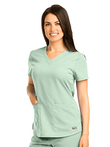 Womens Pistachio - Grey's Anatomy 71166 V-Neck Top Pistachio 5XL