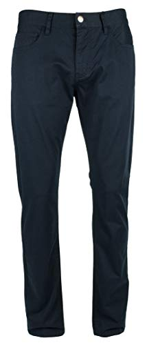 A|X Armani Exchange Men's Straight 5 Pocket Pant, Navy, 38x30 (Shoes Men Armani Jeans)