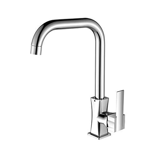 JXLBB Mejora, Grifo de agua fría y caliente con rotación de 360 grados, Núcleo de cobre cerámico, Revestimiento de...