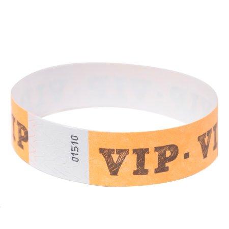 Pack Neon Orange Tyvek Wristbands product image