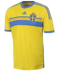 adidas Children s Short-Sleeve Sweden Home Football Shirt Yellow ... 3697367aa
