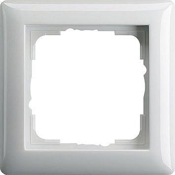 021303 10 STÜCK Gira Rahmen 3-fach ST55 reinweiß-glänzend
