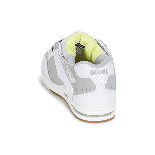 Unisex Adulto Bianco Globe Sneaker Grigio Sabre qpnxwORtE