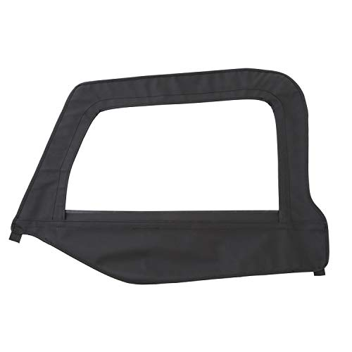 Smittybilt 9970235 Black Diamond OE Style Replacement Top with Tinted Window for Jeep Wrangler (Jeep Wrangler Soft Top Rear Window Zipper)