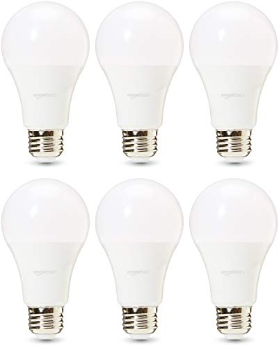 AmazonBasics Commercial Grade 25,000 Hour LED Light Bulb | 100-Watt Equivalent, A21, Daylight, Dimmable, 6-Pack