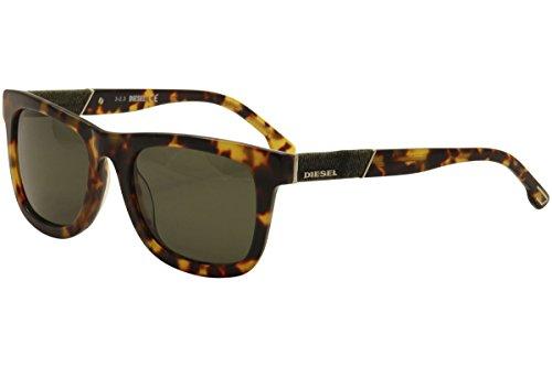 Diesel Eyewear Square Sunglasses (Tortoise and Green)