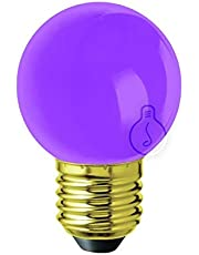 Amarcords - Vattentålig utomhus LED-lampa, varmljus 2700k, Lilac Glass Type Globetta, E27, 1W