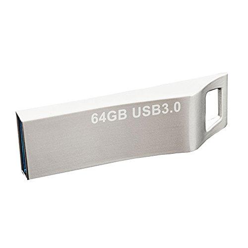 JUANW 64GB USB3.0 Metal Flash Drive Waterproof Jump Drive St