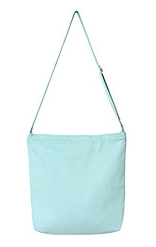 VigourTrader Unisex Pure Color Long Strap Canvas Tote Shoulder Bag Durable Large Capacity Two Interior Pockets 2 Interior Pockets
