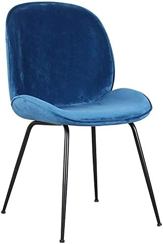 Chaise de Salle à Manger Nordique rembourrée Chaise de Maquillage en Velours Chaise de café Iron Art Home Chaise de Chambre à Coucher - Coussin en U (49x48x90cm)