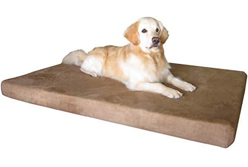 Dogbed4less Jumbo Orthopedic Memory Foam Dog Bed for Large Dogs, Washable Durable Cover, Waterproof Liner and Extra Pet Bed Case, 55