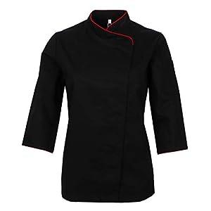 MISEMIYA Chaquetas Uniformes Chef Cocinera Mangas Largas Camisa de utilidades de Trabajo para Mujer 8
