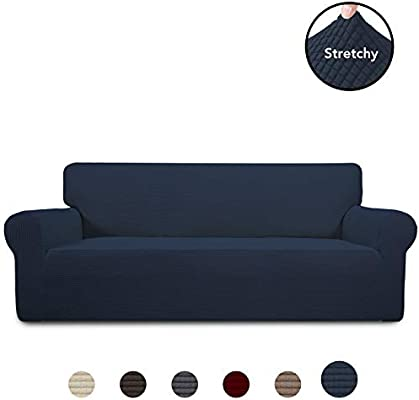 Tremendous Purefit Stretch Sofa Slipcover Spandex Jacquard Non Slip Soft Couch Sofa Cover Washable Furniture Protector With Non Skid Foam And Elastic Bottom Ocoug Best Dining Table And Chair Ideas Images Ocougorg