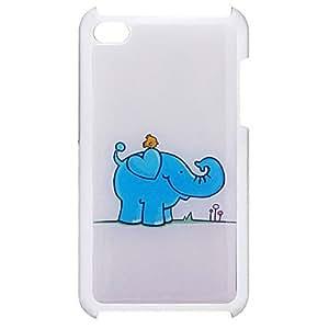 Estilo de dibujos animados elefante y el pájaro Caso Patrón duro epoxi para iPod Touch 4